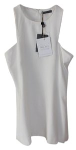 Alexander McQueen White Sleeveless Couture White Fitted Blouse Top 9002 White