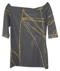 Martine Sitbon Off The Sparkly Top Charcoal/Gold