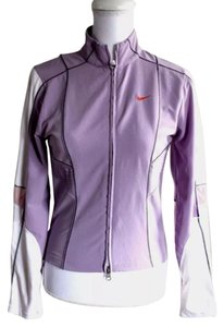 Nike Nike Women's Activewear Athletic Full Zip Up Jacket. Purple and White Size Small