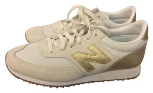 New Balance for J. Crew Suede gold and White Athletic