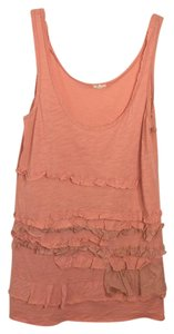 J.Crew Ruffle Casual Scoop Back Long Embellished Top Pink