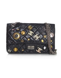 Chanel Flap Double Flap Quilted Leather Reissue Shoulder Bag