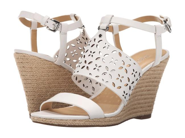 MICHAEL Michael Kors White Darci Wedge Sandals Size US 10 Regular (M, B) MICHAEL Michael Kors White Darci Wedge Sandals Size US 10 Regular (M, B) Image 1