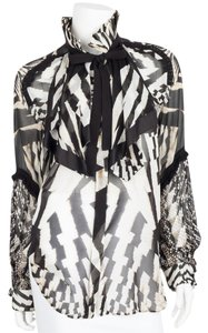 Roberto Cavalli Top black & white