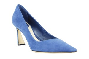 Dior Suede Pointed Toe Heels Women Blue Pumps