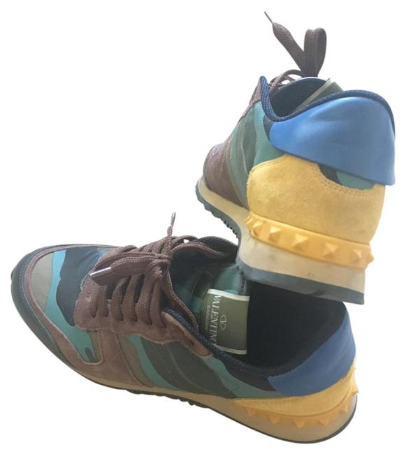 Item - Camouflage Yellow Blue Sneakers Size US 7 Regular (M, B)