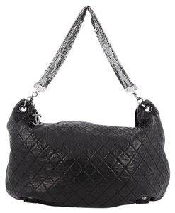 Chanel Chain Mail Leather Hobo Bag