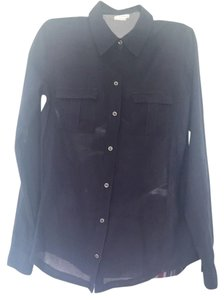 Club Monaco Button Down Shirt Blue
