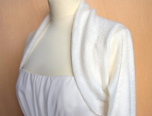Bridal Bolero Mohair Hand Knit Never Worn