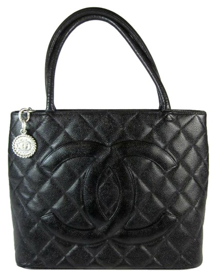 c9f591ec188e Chanel Black Caviar Leather Medallion Tote Bags | Stanford Center ...