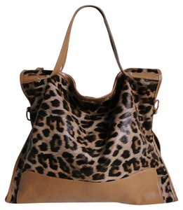 Young Villagers Animal Print Leather Hobo Shoulder Bag