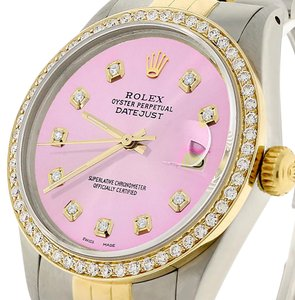 Rolex Rolex Datejust Gold/Steel 36mm Jubilee Pink Diamond Diamond Dial/Bezel