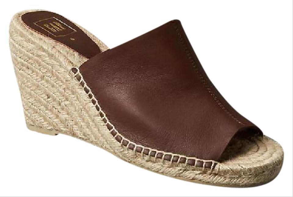 20e001e3b61 Gap Brown Espadrille Leather M Wedges Size US 8.5 Regular (M