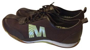 Merrell Dark Brown with Green accents Athletic