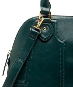 Sole Society Green Vegan Leather Dome New Satchel in Woodland Green