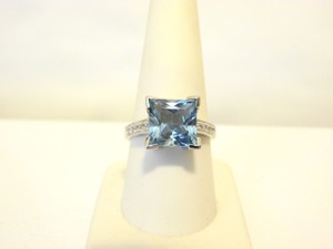 Colleen Lopez Colleen Lopez 5.08ctw Princess-Cut Blue Topaz Ring 9