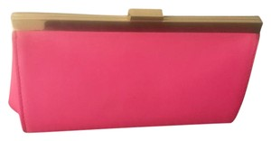 J.Crew Leather New hot pink Clutch