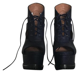 ALAÏA dark blue Platforms