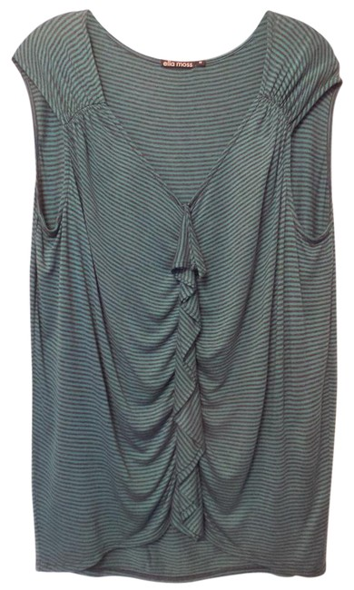 Ella Moss Teal Green Black Anthropologie Oversized Striped Sleeveless M Tunic Size 10 (M) Ella Moss Teal Green Black Anthropologie Oversized Striped Sleeveless M Tunic Size 10 (M) Image 1
