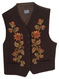 Kenzo Silk Wool Embroidered Vest