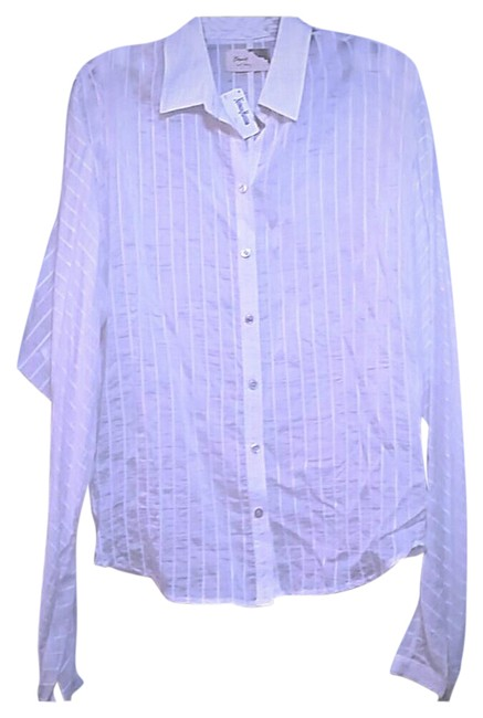 Elizabeth and James White Sheer Blouse Size 8 (M) Elizabeth and James White Sheer Blouse Size 8 (M) Image 1