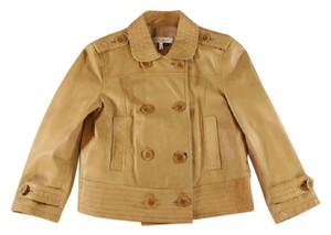 See by Chloé Chloe Leather Cropped Brown Jacket