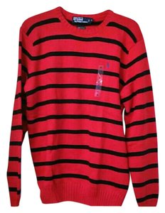Polo Ralph Lauren Logo Striped Cotton Sweater