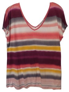 Michael Stars Anthropologie Knit Large Batwing Xl Top Pink, white, purple, yellow, grey +