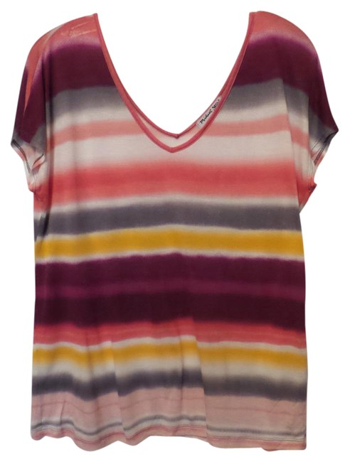 Preload https://img-static.tradesy.com/item/21253741/michael-stars-pink-white-purple-yellow-grey-anthropologie-batwing-striped-almost-sleeveless-knit-blo-0-1-650-650.jpg