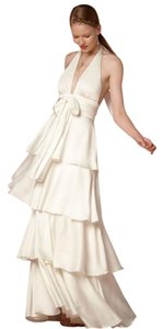 Jill Stuart Romantic Soft Tiered Floor Length Evening Dress