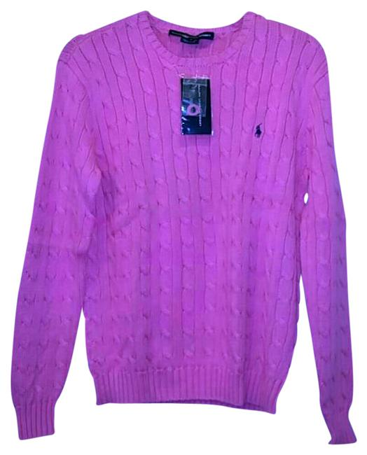 Preload https://img-static.tradesy.com/item/21253780/polo-ralph-lauren-pink-cable-knit-cotton-sweaterpullover-size-6-s-0-1-650-650.jpg