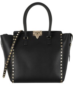 Valentino Rockstud Medium Tote in Black
