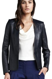 Theory Navy soft leather Blazer