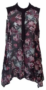 BCBGeneration Sheer Floral Flowy Spring Summer Tunic