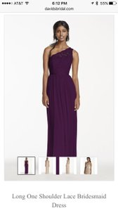 David's Bridal Plum F17063 Dress
