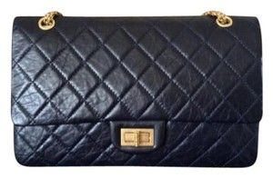 Chanel Reissue 2.55 Black Leather Calfskin Shoulder Bag