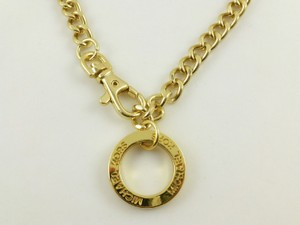 Michael Kors Michael Kors Yellow Gold Plated Circle Logo Pendant Link Chain New