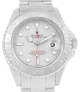 Rolex Rolex Yachtmaster Stainless Steel Platinum Automatic Mens Watch 16622