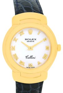 Rolex Rolex Cellini 18K Yellow Gold White Dial Blue Strap Ladies Watch 6621