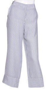 Jenni Kayne Capri/Cropped Pants White & Blue