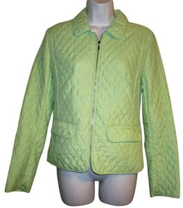 Ann Taylor Quilted Zip Spring Summer 2 Mint Green Jacket