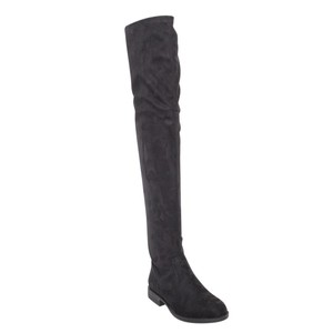 Bamboo Over The Knee Knee High Suede Black Black Suede Boots