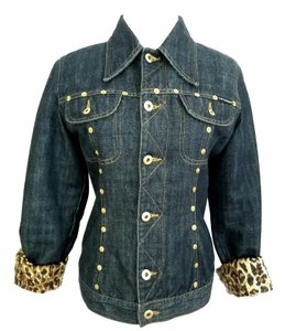 5f5cb12c502 Dolce&Gabbana Blue Dolce & Gabbana Quilted Jacket Size 4 (S) - Tradesy