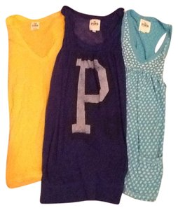 Victoria's Secret Tank T Shirt Blue, Peach, Teal