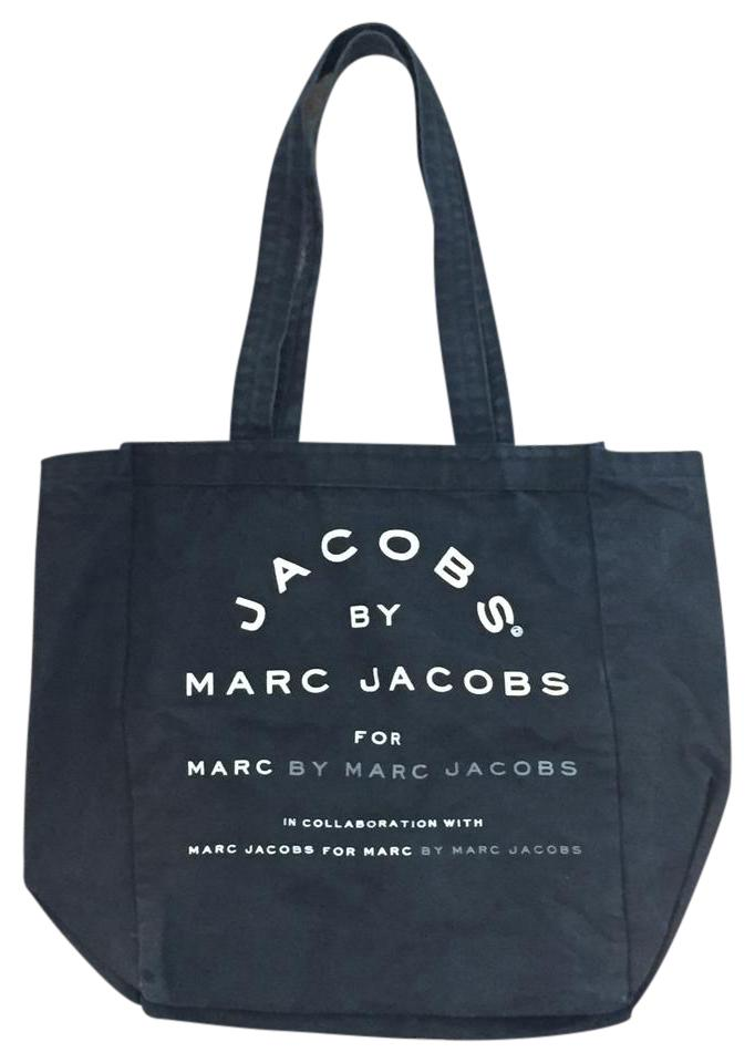 1b02f90f690f Marc by Marc Jacobs Logo Canvas Tote in Navy Blue Image 0 ...