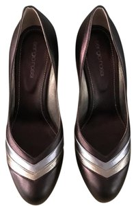 Sergio Rossi bronze, gold and silver Pumps