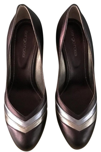 Sergio Rossi Bronze Gold and Silver Pelle Metallic Leather Pumps Size US 8 Regular (M, B) Sergio Rossi Bronze Gold and Silver Pelle Metallic Leather Pumps Size US 8 Regular (M, B) Image 1