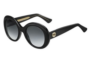 Gucci Black Crystal Round Frame Ladies Sunglass GG3815