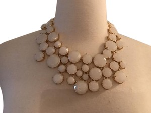 J.Crew J.CREW FROSTED CRYSTAL COLLAR NECKLACE WHITE G3633