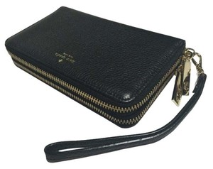 Kate Spade Leather Wallet Wristlet in Black